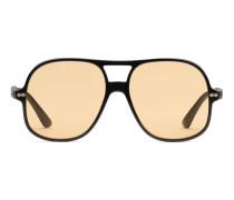 Sonnenbrille in Pilotenform aus Azetat