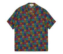 Bowling-Shirt mit GG Psychedelic-Print