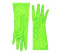 Handschuhe aus Tüll mit Blumen-Motiv