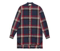 Übergroßes Hemd aus karierter Wolle