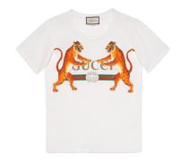 T-Shirt mit Gucci Logo mit Tigern
