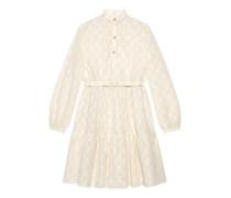 Kleid mit GG Lochstickerei