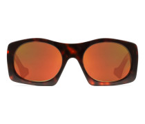 Sonnenbrille mit quadratischem Azetatrahmen
