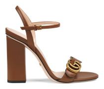 Sandale aus Leder mit Doppel G