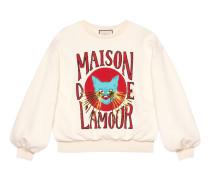 Übergroßer Pullover mit Katzen-Print