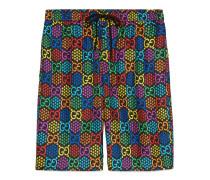 Shorts aus Seide mit GG Psychedelic-Print