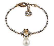 Armband mit Biene und Perle