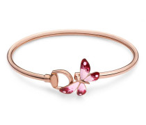 Armband Gucci Flora in Roségold mit Email
