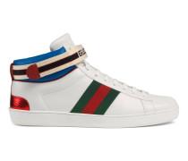 Ace High-Top-Sneaker mit Gucci-Streifen