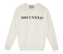 Übergroßer Pullover mit MDCCXXXIV-Print