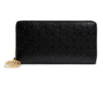 Gucci Icon Brieftasche mit Leder Gucci Signature