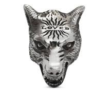 Anger Forest Ring aus Silber mit Wolfskopf