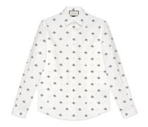 Duke Hemd aus Baumwolle mit Bienen und Stern Motiv