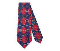 Krawatte aus Seide mit GG Rhombus-Print