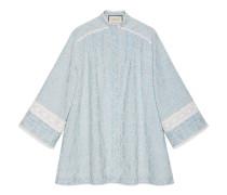 Kleid aus Denim mit GG Stickerei und Spitze