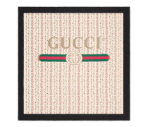 Halstuch aus Seide mit Gucci Logo-Rosen-Print