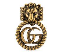 Löwenkopf-Ring mit Doppel G