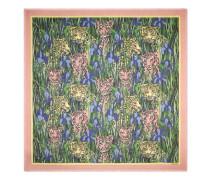 Halstuch aus Seide mit Feline Garden-Print