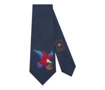 Krawatte aus Seide mit Adler-Stickerei