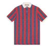 Poloshirt mit Horsebit-Ketten-Print