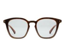 Sonnenbrille mit rechteckigem Rahmen aus Azetat