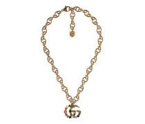 DoppelG Halskette mit Kristallen