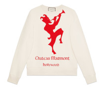 Pullover mit Chateau Marmont-Print