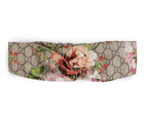 Kopfband aus Seide mit Blooms-Druck
