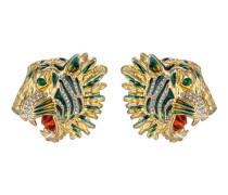 Tigerkopf-Ohrringe