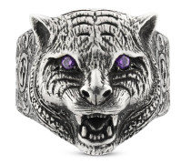GucciGarden Ring mit Felinekopf