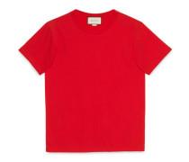 T-Shirt aus Baumwolle mit Gucci Stempel-Print