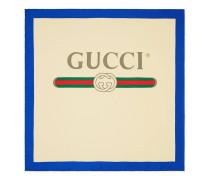 Halstuch aus Seide mit Gucci Logo