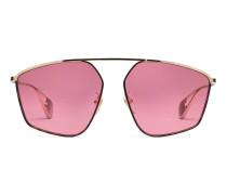 Sonnenbrille mit spezieller Passform mit quadratischem Rahmen