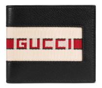 Brieftasche aus Leder mit Gucci Streifen