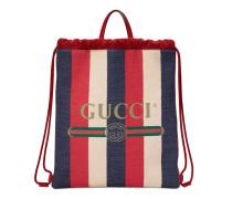 Mittelgroßer Rucksack mit Zugband mit Gucci Print