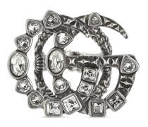Doppel G Ring mit Kristallen