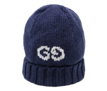 Mütze aus Wolle mit GG Detail