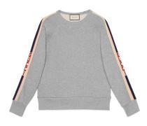 Pullover aus Baumwolle mit Gucci Streifen