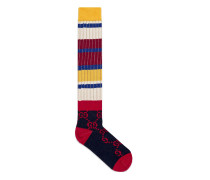 Socken aus gestreifter Wolle mit GG