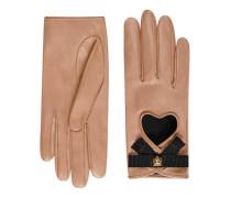Handschuhe aus Leder mit Grosgrain-Schleife