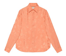 Hemd aus Viskose-Jacquard mit Gänseblümchen-Motiv