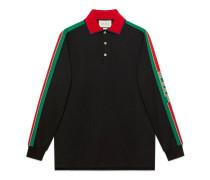 Poloshirt aus Baumwolle mit Gucci Streifen