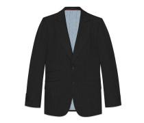 Mitford Jacke aus Wolle mit Nadelstreifen