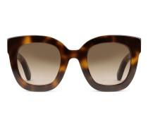 Sonnenbrille mit rundem Rahmen aus Azetat mit Stern