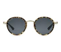 Sonnenbrille mit rundem Rahmen aus Titan