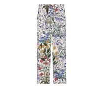 Pyjamahose aus Seide mit NewFlora-Print