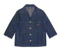 Jacke aus Denim in Stone-Waschung