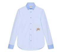 Hemd aus Baumwolle mit Fil Coupé mit Tiger-Motiv