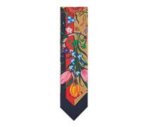 Halsschleife mit Flora Snake Streifen-Print