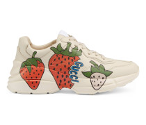 Rhyton Damensneaker mit Gucci Strawberry